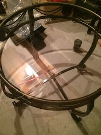 Round glass top and metal base Mississauga