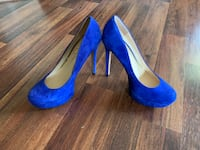 Beautiful blue suede Jessica Simpson heels size 9M