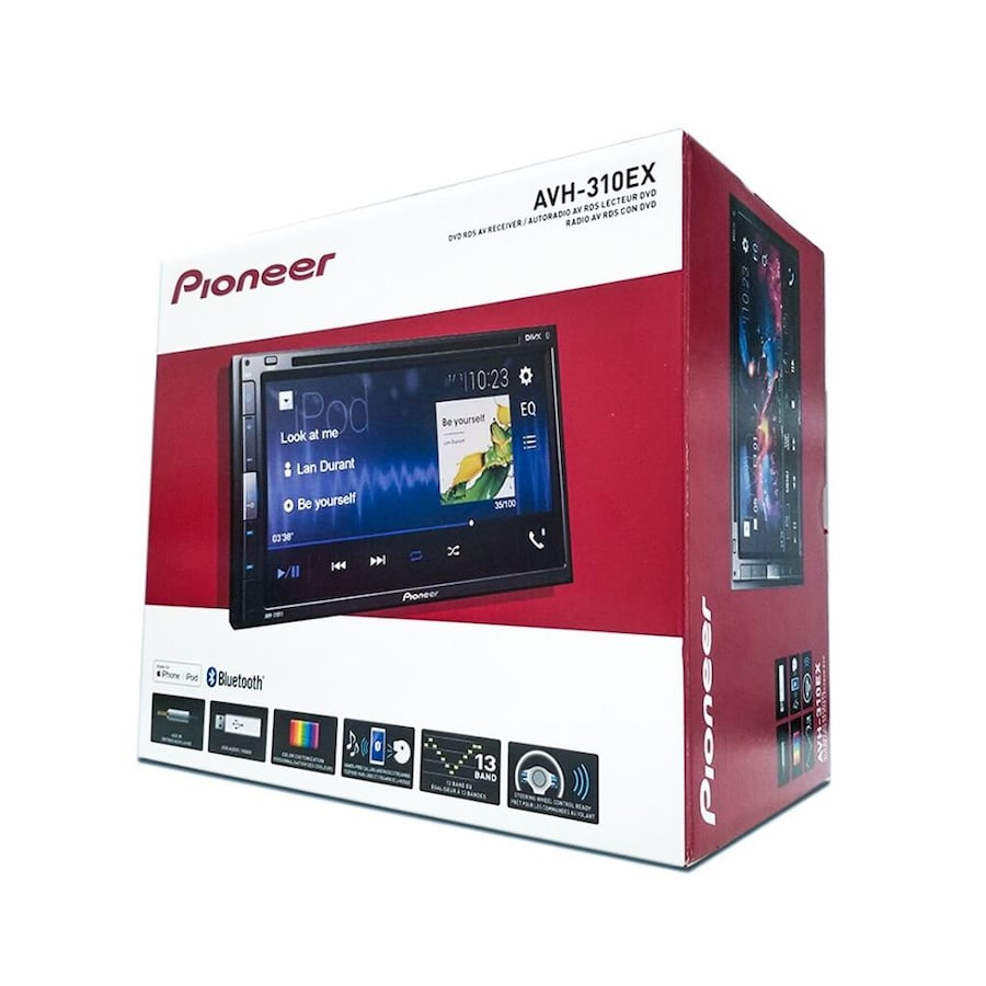 """Pioneer AVH-310EX  6.8""""  Touchscreen Double DIN Bluetooth W/Back Up Camera"""