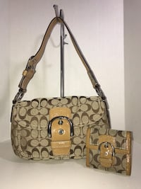 Coach Handbag & Matching Wallet (Tan) Milton, L9T 4K1