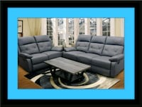 tufted gray fabric sectional sofa East Riverdale