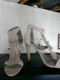 pair of white leather open-toe heeled sandals Forest, 24551