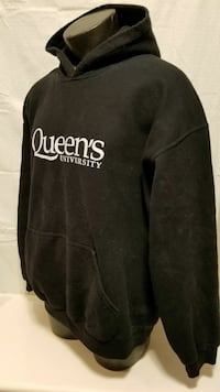 Black and White Queens hoodie good cond. Size L 10 Kingston, K7K 2L1