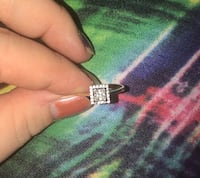 Size 9, 14kt gold ring! Cubic Zirconia stone!