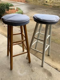 2 wooden barstools 28 in- as is Lexington, 29072