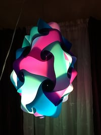 Purple, blue, and teal pendant lamp Kuna, 83634