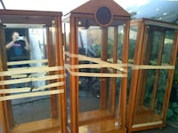 brown wooden framed glass display cabinet West Miami, 33144