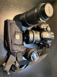 Nikon D5300 with lenses and accessories