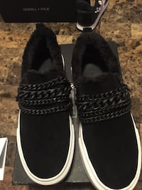 pair of black suede shoes Toronto, M9M 1X6