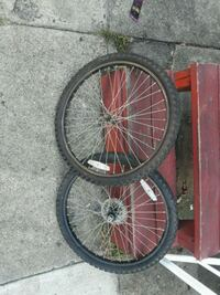 two black and red bicycle wheels Baltimore, 21223