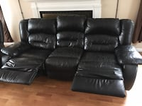 Black Leather Recliner Couch & Recliner SET Buffalo Grove, 60089