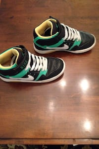 Black green and white nike high top sneakers North Codorus, 17362