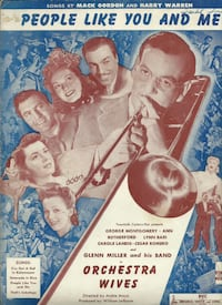 1942 PEOPLE LIKE YOU AND ME GLENN MILLER ORDCHESTRA WIVES ANTIQUE SHEET MUSIC  (ref # bx 6 books/eb/apps) Newmarket