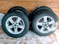 Rotational winter grip snow tires, 90%treads left  Mississauga, L5T 1E4