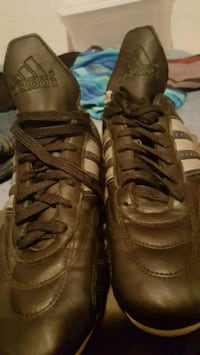 pair of brown leather high-top sneakers Acton, L7J 1P8