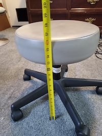 $30 O.B.O GREY STOOL .. FULLY FUNCTIONAL.. NO TEARS..