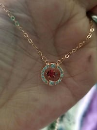 ROSE GOLD NECKLACE RUBY STONE BRAND NEW Syracuse, 84075