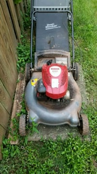 black and red push mower Sterling, 20164