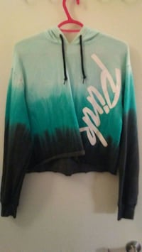 mint green and black pullover hoodie Vancouver, V6A 0B6