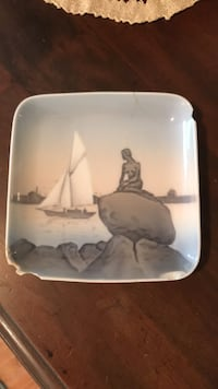 Danish porcelain little mermaid dish - old Wall Township, 07719