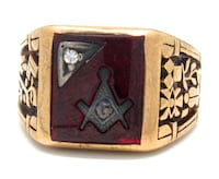 Mens Bloodstone Masonic Ring Norfolk