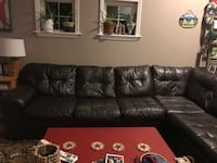 Brown faux leather sectional  Biddeford, 04005