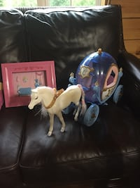 Barbie and Ken with Furniture and Barbies Horrs and Carriage