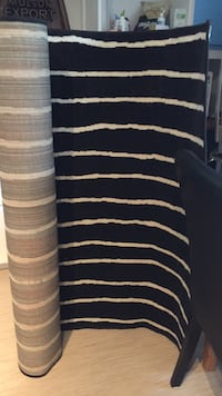 Like new IKEA carpet black with white stripes. Bought it and realized it does not match my apartment so selling it for what I paid. Can deliver.  Toronto, M4N 2L4