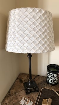 Set of two lamps with white lamp shades. moving need gone asap!