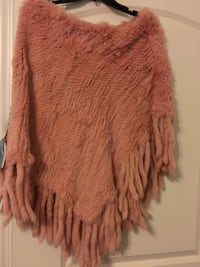 Pink coral 100% Real Fur Shawl New with tags Alexandria, 22314