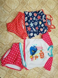 Girls bathing suits size 6 and 7/8 Burnaby, V3N 3Z7