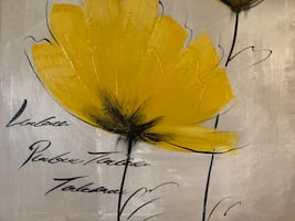 Beautiful yellow flower painting from Bouclair.