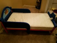 black and brown wooden bed frame Houston, 77082