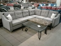 Grey Fabric Sectional Sofa W/ Accent Chair Phoenix, 85018