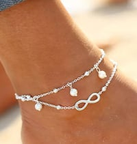 Foot jewelry - Anklets in silver and gold Alexandria