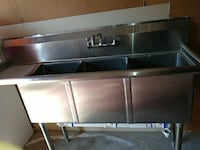 Stainless steel 3 compartment sink commerical Houston, 77080