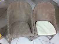 two brown wicker padded chairs West Palm Beach, 33415