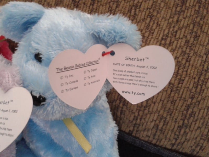 Ty Sherbert Beanie Babies in Purple, Blue and Pink fde699c3-385c-4d6f-9bb5-a358563c86e3