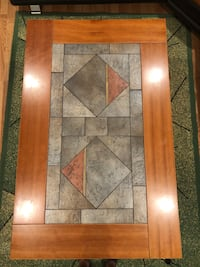 Tile CenterCoffee Table with wood borders Schiller Park, 60176