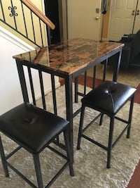 Brand new counter high pub table with 2stools. Free curbside delivery included  Richmond, 94803