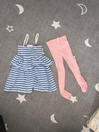 0-3 months dress and pink stockings new  Toronto, M3N