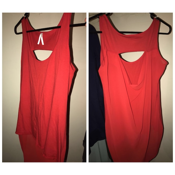 women's red sleeveless dress collage