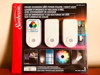 SUNBEAM COLOR CHANGING LED POWER FAILURE / NIGHT LIGHT Brand New Toronto