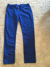 Ladies size 12 Blue Pants, used once (98% cotton 2% spandex)