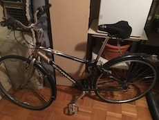 gray and black Schwinn rigid bicycle
