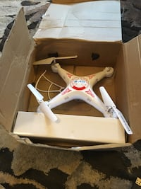 white and red quadcopter drone Winston-Salem, 27101