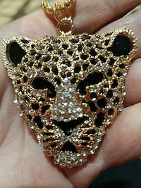 Leopard pendant on gold chain  Leominster, 01453