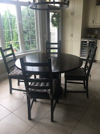 Round Mobilia table and 4 IKEA chairs with cushions Ottawa