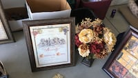 two black wooden framed painting of flowers Bakersfield, 93312
