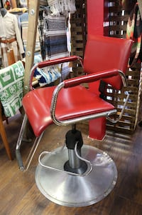 Heavy Red Leather Barber Chair Spokane